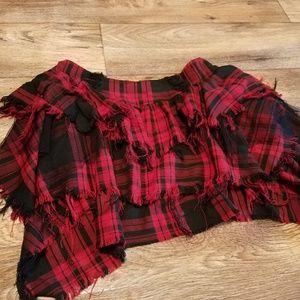 Red plaid punk Hot Topic mini skirt